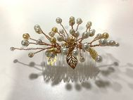 Beaded Wrapped Hair Slide